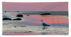Dawn In Pink Hand Towel by Dianne Cowen