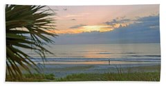 Hand Towel featuring the photograph Dawn On Ormond Beach by Kenny Francis
