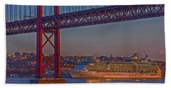 Bath Towel featuring the photograph Dawn On The Harbor by Hanny Heim