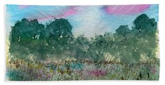 Dawn On The Marsh Hand Towel