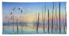 Dawns Early Light Bath Towel by Mike Brown