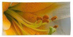 Gold Daylily Close-up Bath Towel