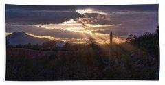 Bath Towel featuring the photograph Days End by Dan McManus