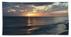 Days End Over Sanibel Island Hand Towel by Christiane Schulze Art And Photography