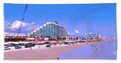 Hand Towel featuring the photograph Daytona Main Street Pier And Beach  by Tom Jelen