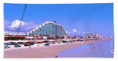 Daytona Main Street Pier And Beach  Hand Towel