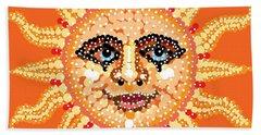 Bath Towel featuring the digital art Dazzling Sun by R  Allen Swezey