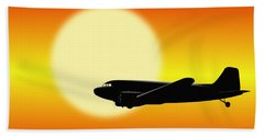 Dc-3 Passing Sun Bath Towel