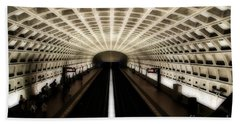Hand Towel featuring the photograph Dc Metro by Angela DeFrias