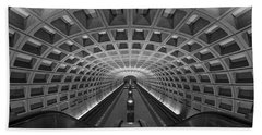 D.c. Subway Hand Towel by Dustin  LeFevre