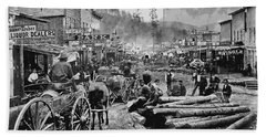 Deadwood South Dakota C. 1876 Hand Towel