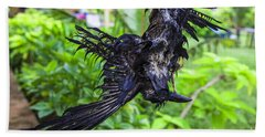 Death Raven Hanging In The Rope Hand Towel
