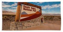 Death Valley Entry Bath Towel