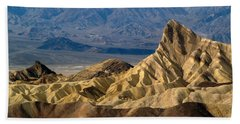 Death Valley Np Zabriskie Point 11 Bath Towel by Jeff Brunton