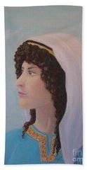 Hand Towel featuring the pastel Deborah    Prophetess And Judge by Lynn Quinn