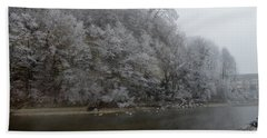 Bath Towel featuring the photograph December Morning On The River by Felicia Tica