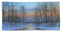 December Solitude Hand Towel by Mike Brown