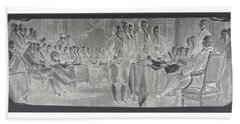 Declaration Of Independence In Negative Hand Towel by Rob Hans