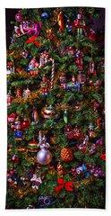 Decorated Christmas Tree Hand Towel
