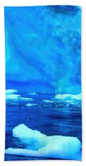Bath Towel featuring the photograph Deep Blue Iceberg by Amanda Stadther