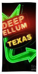 Deep Ellum Red Glow Bath Towel