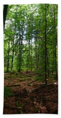 Deep Forest Trails Bath Towel by Miguel Winterpacht