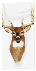 Deer - Front View Bath Towel