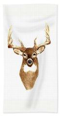 Deer - Front View Bath Towel