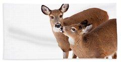 Deer Kisses Hand Towel by Karol Livote