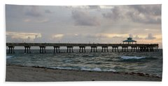 Deerfield Beach International Fishing Pier Sunrise Hand Towel
