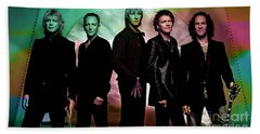 Def Leppard Hand Towel by Marvin Blaine