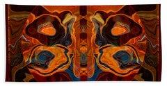Deities Abstract Digital Artwork Hand Towel