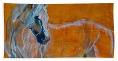 Bath Towel featuring the painting Del Sol by Jani Freimann