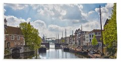 Bath Towel featuring the photograph Delfshaven Rotterdam by Frans Blok