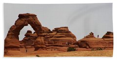 Hand Towel featuring the photograph Delicate Arch Bryce Canyon by Bruce Bley