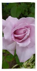 Hand Towel featuring the photograph Delicate Purple Rose by Lingfai Leung