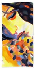 Hand Towel featuring the painting Delight by Helena Wierzbicki