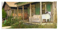 Delta Sharecropper Cabin - All The Conveniences Hand Towel