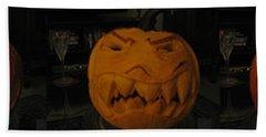 Demented Mister Ullman Pumpkin 3 Hand Towel