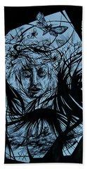 Dementia Bath Towel by Anna  Duyunova