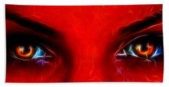 Bath Towel featuring the photograph Demon Eyes by Sotiris Filippou