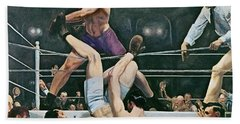 Dempsey V Firpo In New York City Hand Towel
