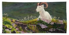 Denali Dall Sheep Bath Towel by Mike Robles