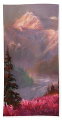 Denali Summer - Alaskan Mountains In Summer Hand Towel