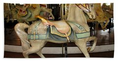 Bath Towel featuring the photograph Dentzel Menagerie Carousel Horse by Rose Santuci-Sofranko