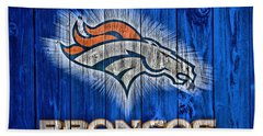 Denver Broncos Barn Door Bath Towel by Dan Sproul