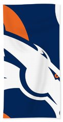 Denver Broncos Football Hand Towel