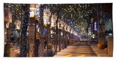 Denver's 16th Street Mall At Christmas Bath Towel