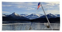 Departing Auke Bay Hand Towel by Cathy Mahnke