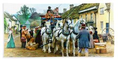 Hand Towel featuring the photograph Departing Cranford by Paul Gulliver
